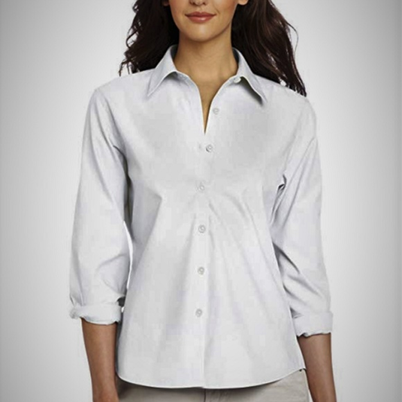 "Foxcroft Tops - Foxcroft Cotton Non-Iron Buttoned Shirt ""Dianne"" 2"